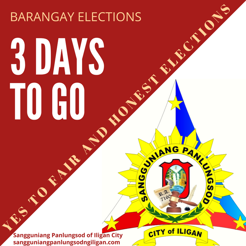 3 days to go before the barangay elections