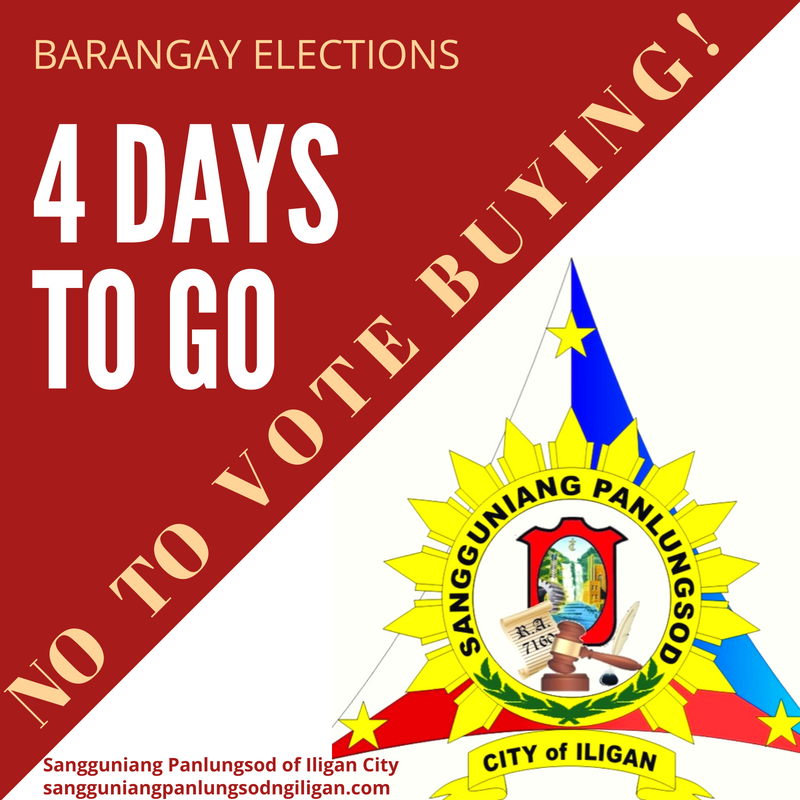 4 days to go before the barangay elections